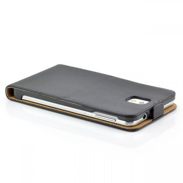 Flip Case mit Magnetverschluss für Samsung Galaxy Note 3 Schwarz