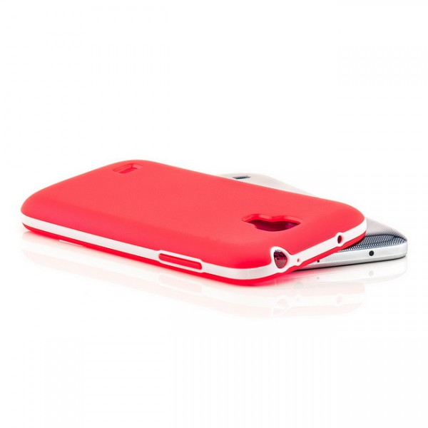 Silikon Back Cover für Samsung Galaxy S4 Mini Rot