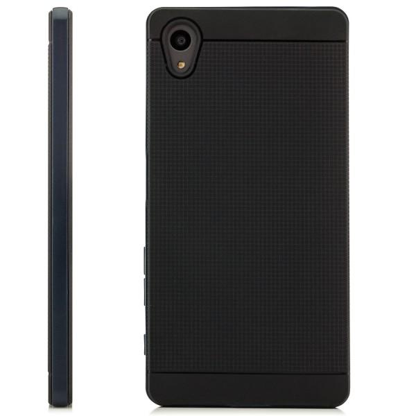AR-Silikon Schale für Sony Xperia Z5 - Schwarz-Dunkelblau