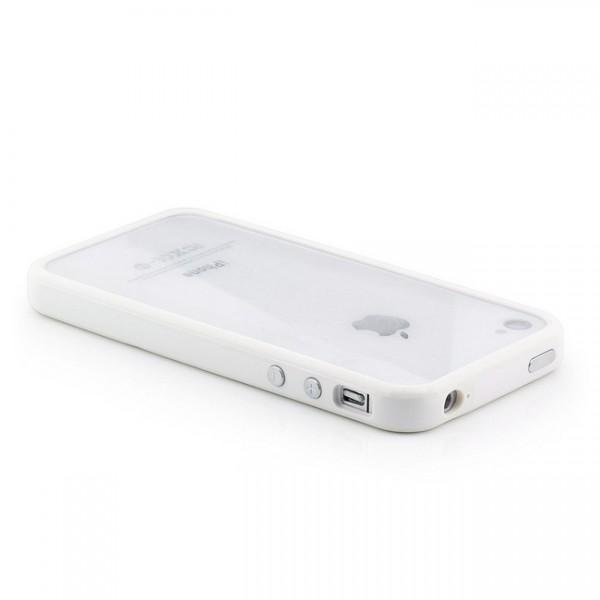 TPU & Silikon Bumper für Apple iPhone 4 & 4S Weiß
