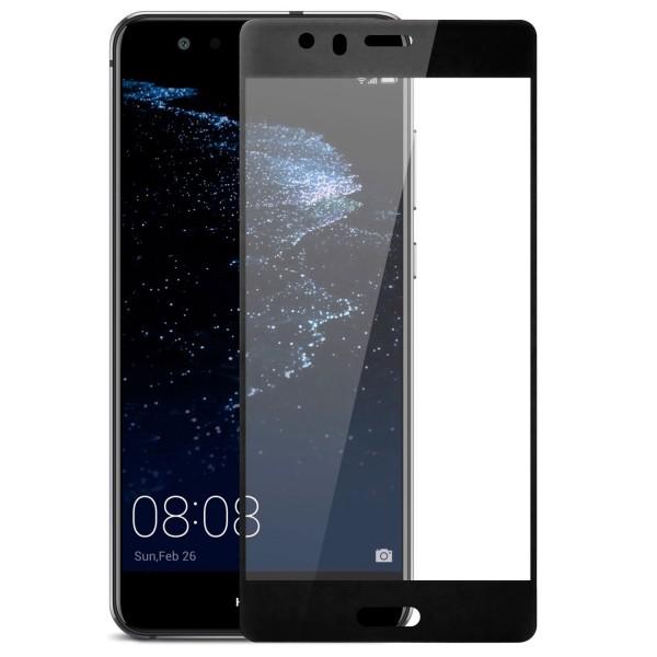 Full Cover Displayschutzglas für Huawei P10 - Schwarz