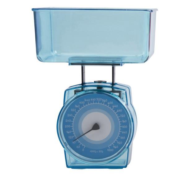 Mini Küchenwaage mit Messschale bis 1 kg - Blau