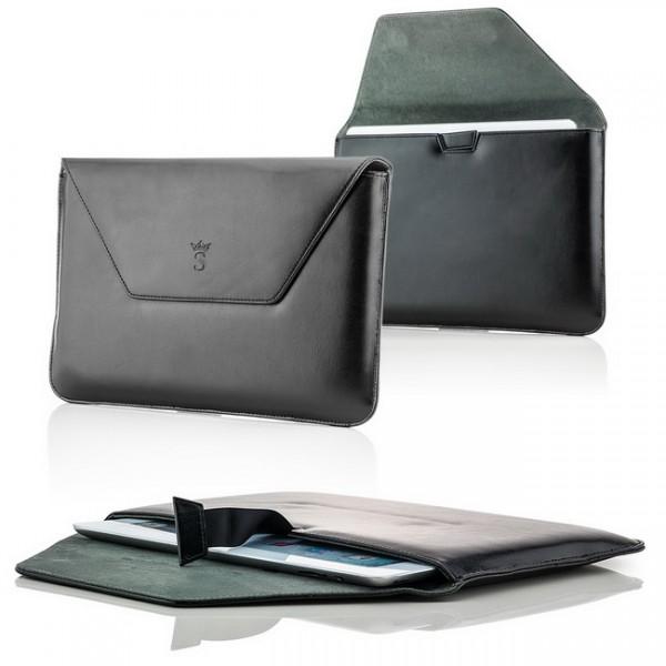 Saxonia Tablettasche - Business Style / Querformat / Schwarz