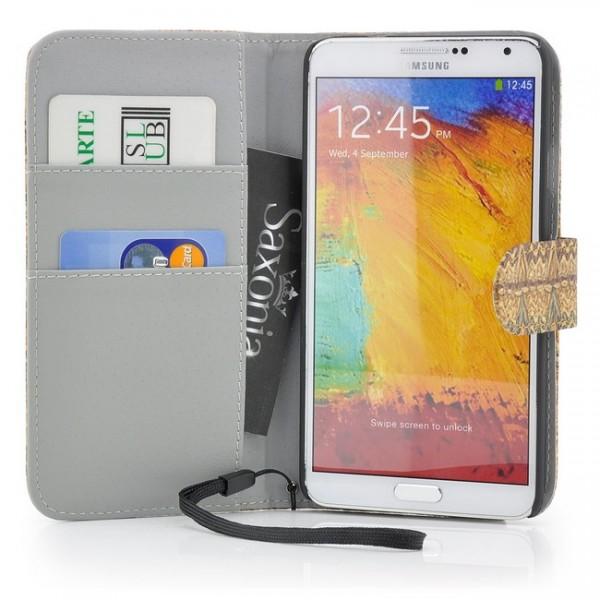 Weave Style Tasche für Samsung Galaxy Note 3 Braun