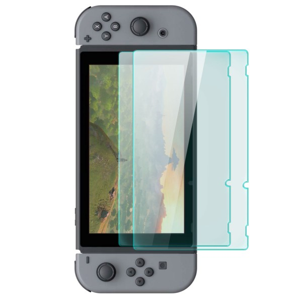 2x Displayschutzglas für Nintendo Switch