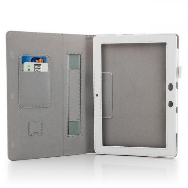 Tablet Tasche für Asus Memo Pad Smart 10.1 ME301T Weiß + Stift