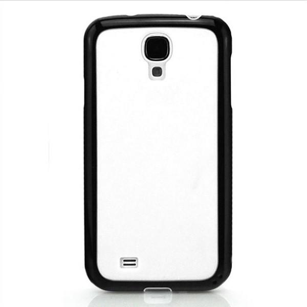 Cubes TPU & Silikon Case für Samsung Galaxy S4 Weiß-Schwarz