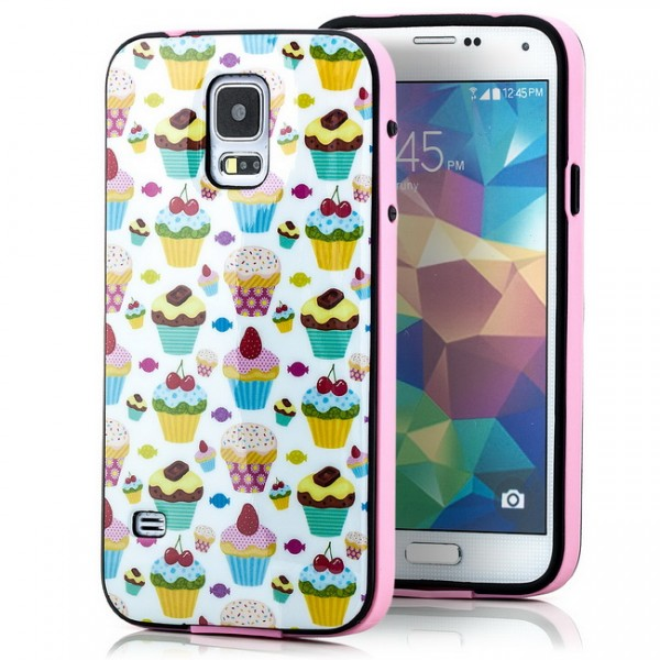 TPU Back Cover für Samsung Galaxy S5 Cupcakes