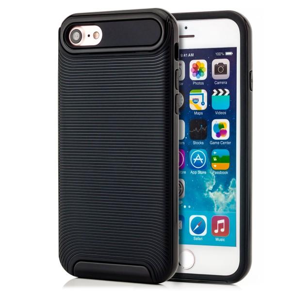 """Ar-Silikon Typ 2 Schutzschale für Apple iPhone 8 / 7 (4,7"""") - Schwarz"""