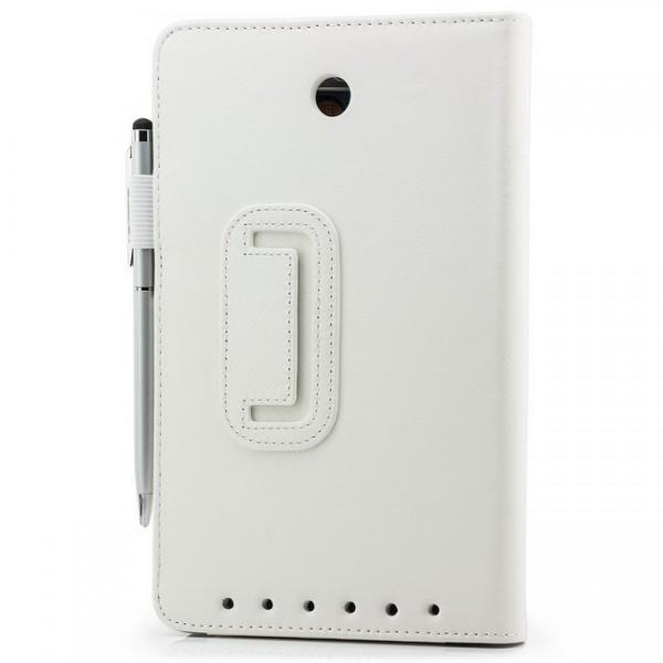 Tablet Tasche für Asus MeMO Pad HD 7 ME173X Weiß + Stift
