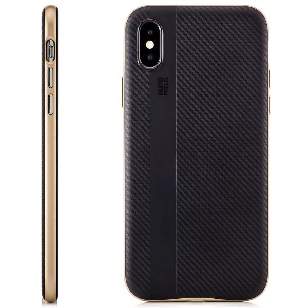 AR-Carbon Back Cover für Apple iPhone X - Gold