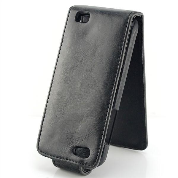 Flip Tasche für HTC One V Schwarz
