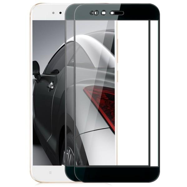2x Full Cover Displayschutzglas für Xiaomi Mi 5X / Mi A1 - Schwarz