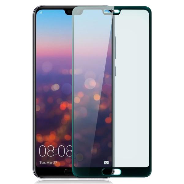 Full Cover Displayschutzglas für Huawei P20 - Schwarz