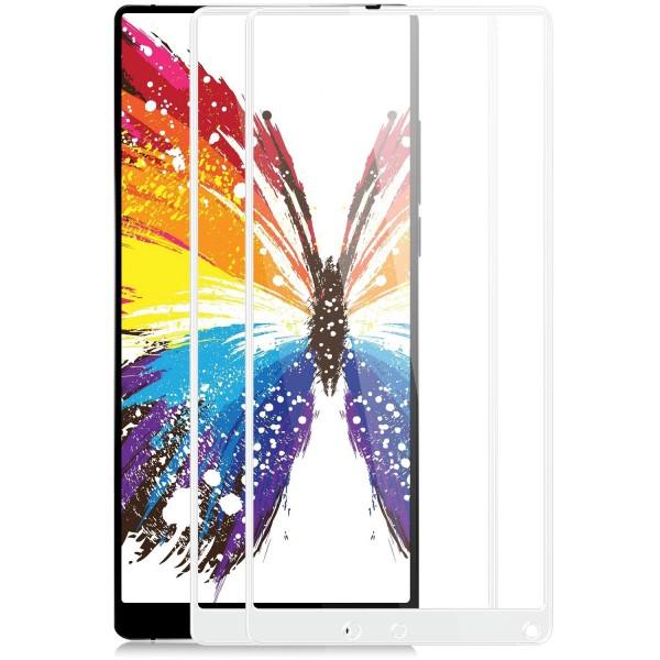 2x Full Cover Displayschutzglas für Xiaomi Mi Mix 2 - Weiß