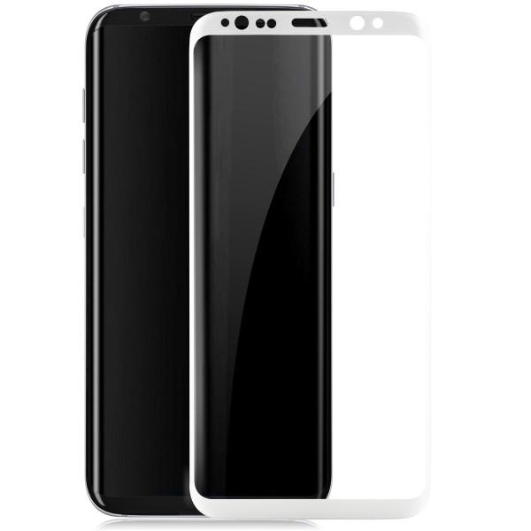 Curved Displayschutzglas für Samsung Galaxy S8 - Weiß