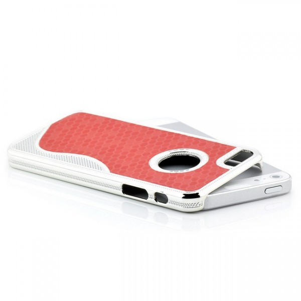S-Line Cells Back Cover für Apple iPhone 5 & 5S Rot