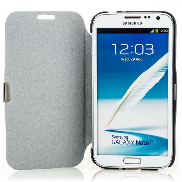 Flip Stand Case für Samsung Galaxy Note 2 Weiß