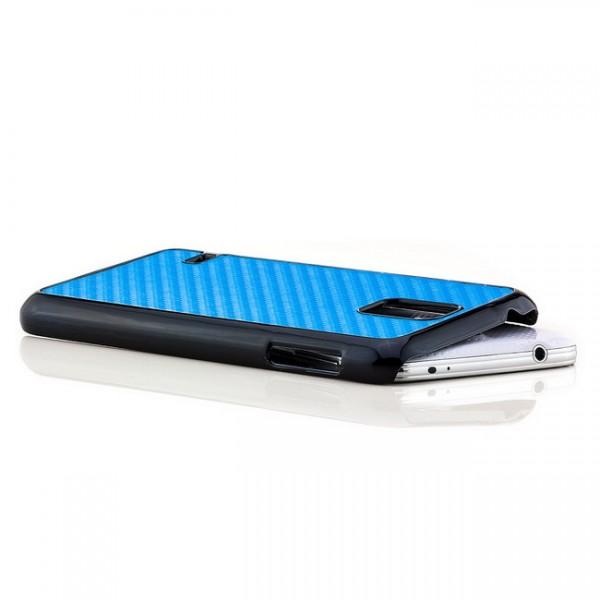 Carbon Back Cover für Samsung Galaxy S5 Blau