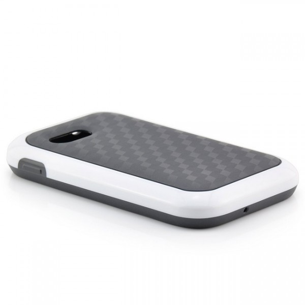 TPU Back Cover für Samsung S5360 Galaxy Y Schwarz-Weiß
