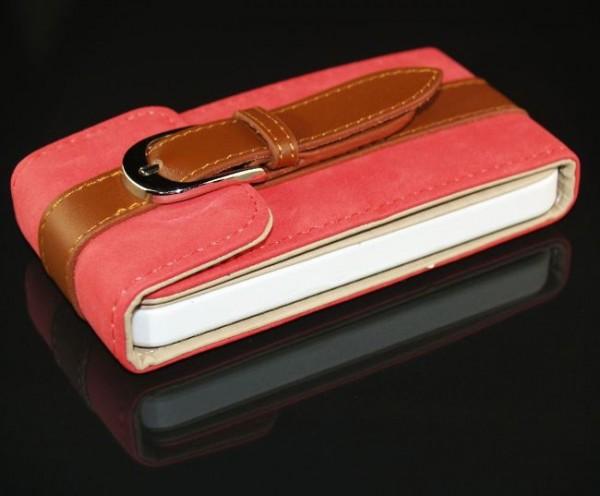360° Flip Tasche für Apple iPhone 4 & 4S Rot