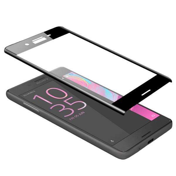 Curved Displayschutzglas für Sony Xperia X Compact - Schwarz