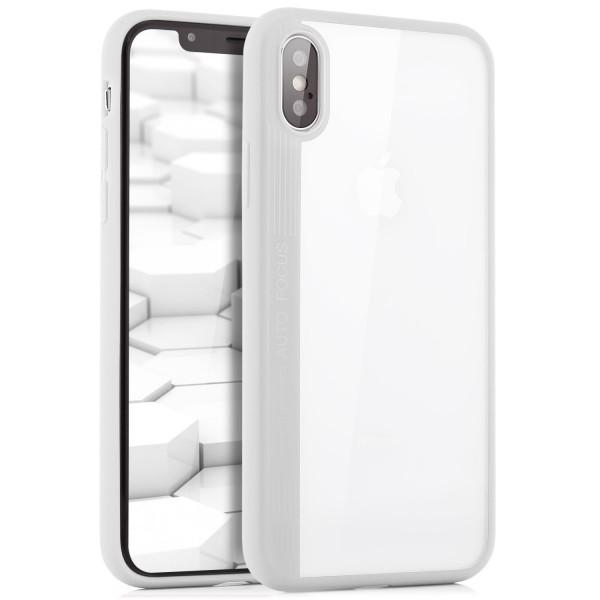 Silikon Back Cover 2 für iPhone X - Transparent-Weiß