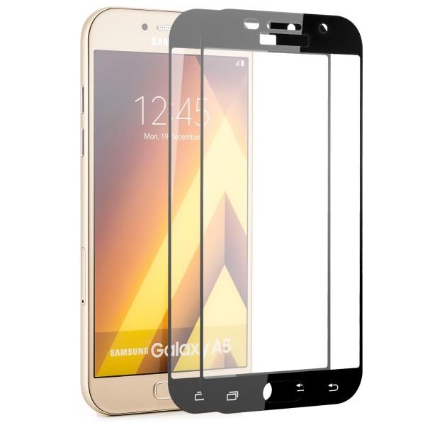 2x Full Cover Displayschutzglas für Samsung Galaxy A5 (2017) - Schwarz