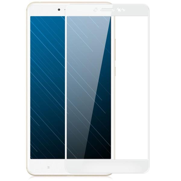 Full Cover Displayschutzglas für Xiaomi Mi Max 2 - Weiß