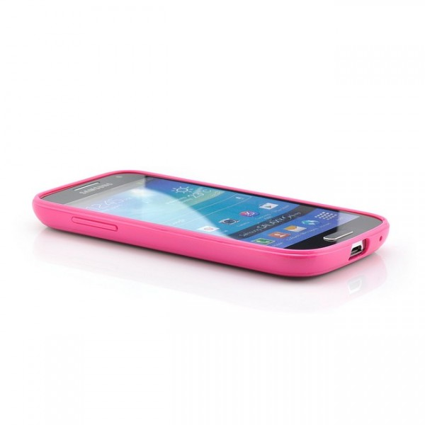 Hard Back Cover für Samsung Galaxy S4 Mini Transparent-Pink