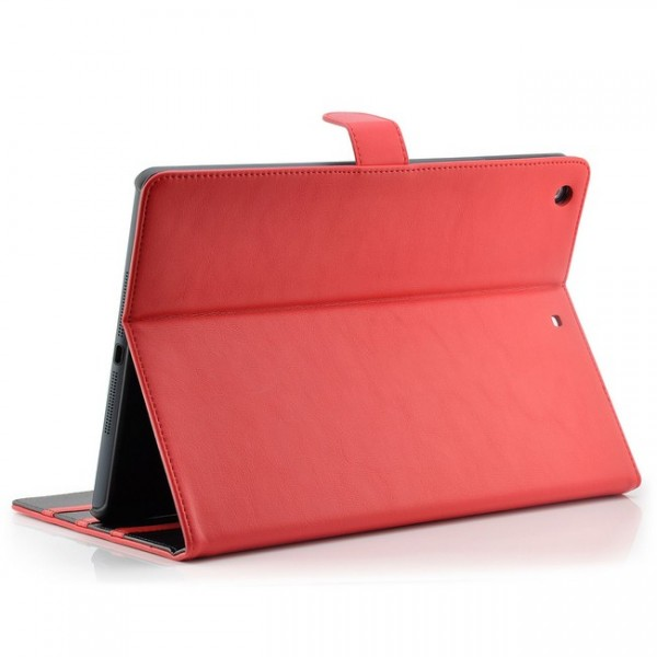 Deluxe Tablet Tasche für Apple iPad Air Rot