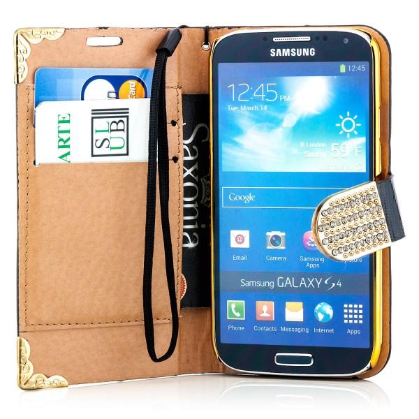Cells View Case für Samsung Galaxy S4 Schwarz-Gold