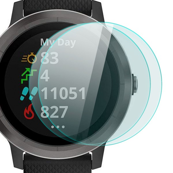 2x Displayschutzglas für Garmin Vivo Active 3