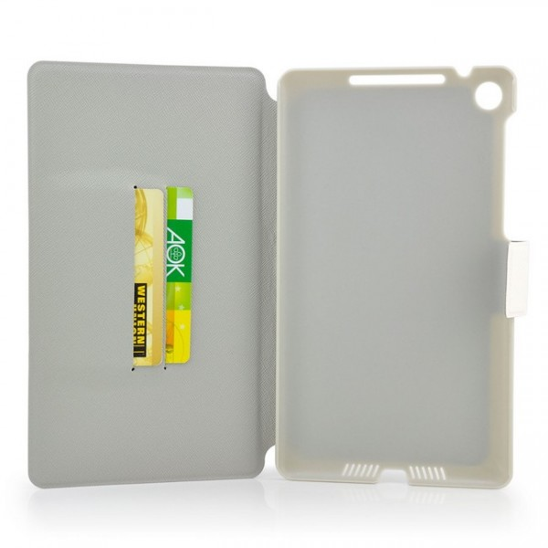 Dual Colours Tasche für Asus Google Nexus 7 2013 Schwarz-Weiß