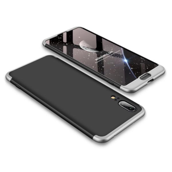 GKK Hülle für Huawei P20 - Schwarz-Silber