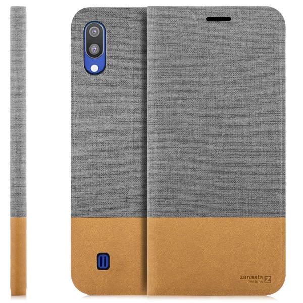 Kunstleder Slim Tasche für Samsung Galaxy M10
