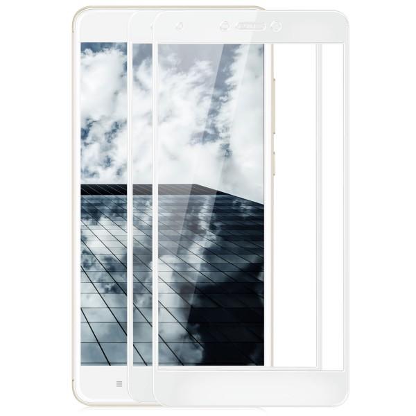 2x Full Cover Displayschutzglas für Xiaomi Redmi Note 4 / 4X - Weiß