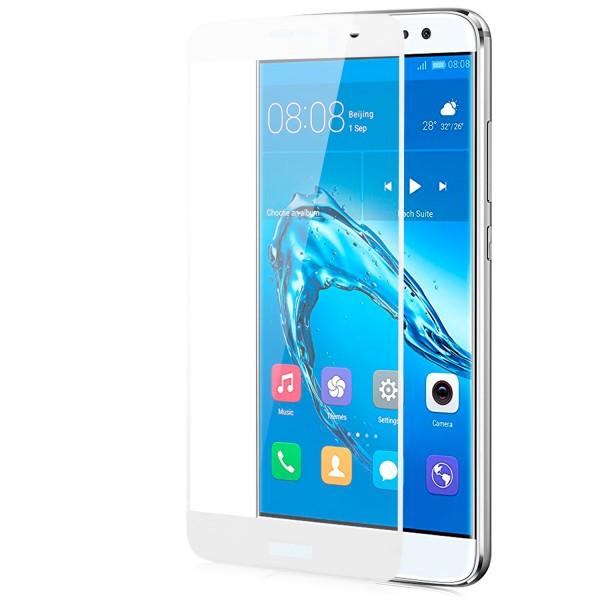 Full Cover Displayschutzglas für Huawei P8 Lite (2017) - Weiss
