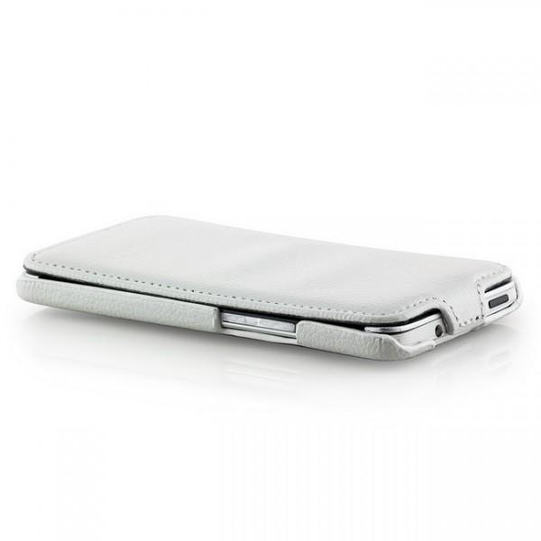 Slim Flip Tasche für HTC One M7 Weiß
