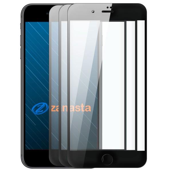 """3x 10D Displayschutzglas für Apple iPhone 7 Plus (5,5"""") - Schwarz"""