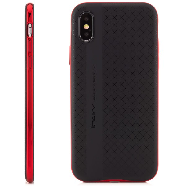 iPaky Back Cover für Apple iPhone X - Rot