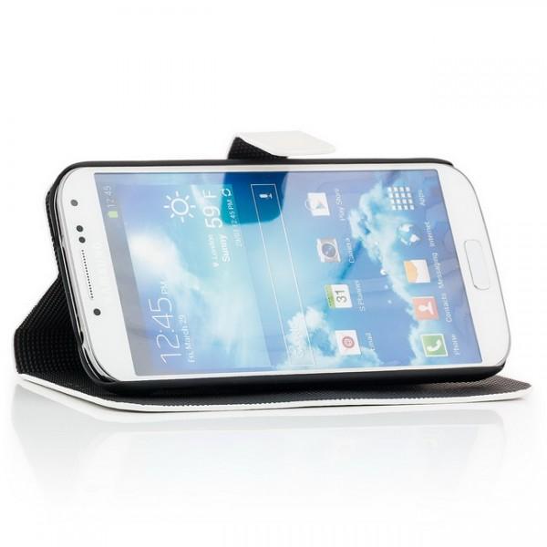 Brushed Style Tasche für Samsung Galaxy S4 Weiß