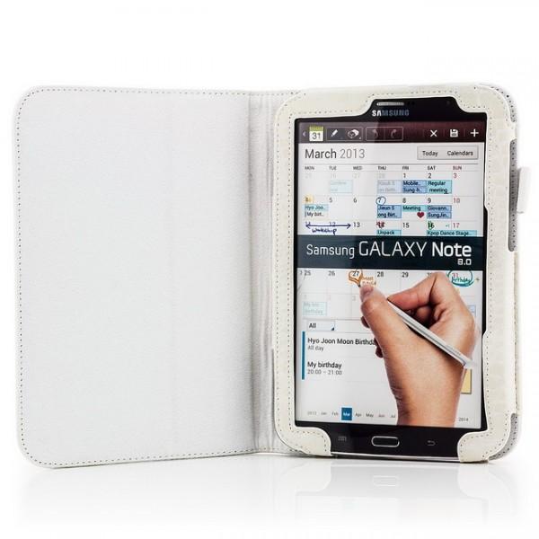 Kroko Case für Samsung Galaxy Note 8 Weiß
