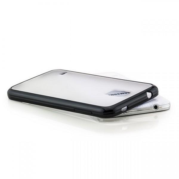 Hard Back Cover für Samsung Galaxy S5 Transparent-Schwarz