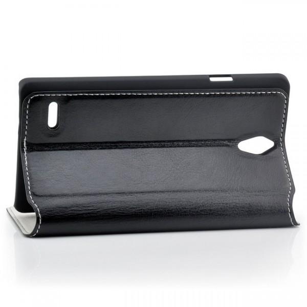 AZNS Flip Tasche für Huawei Ascend G700 Schwarz