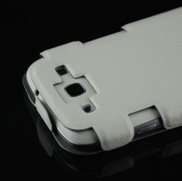 Skin-Style Flip Case für Samsung Galaxy S3 Weiß