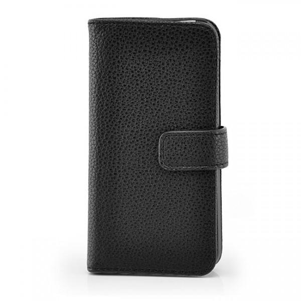 Schutzhülle mit Magnetverschluss für Apple iPhone 5 & 5S Schwarz