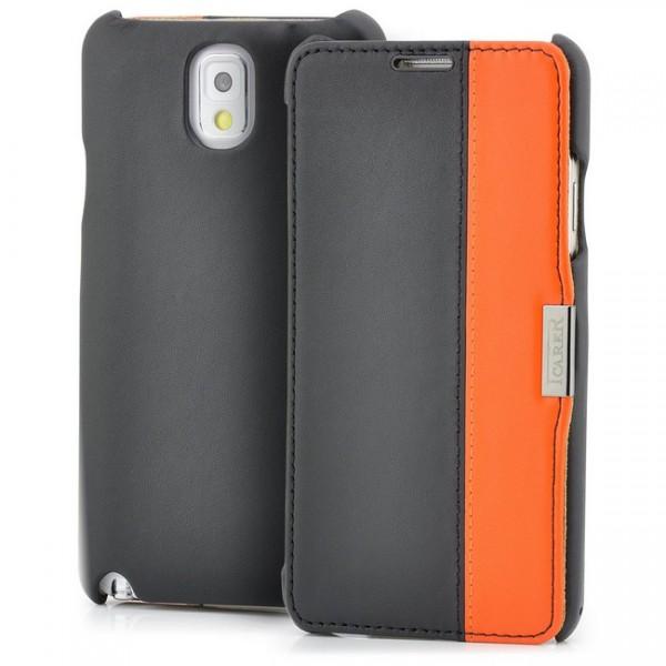 iCareR Colour Stripe Series Case für Samsung Galaxy Note 3 Schwarz-Orange