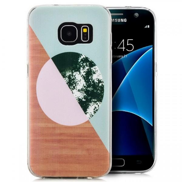 Silikon Motiv Case für Samsung Galaxy S7 - Abstrakt