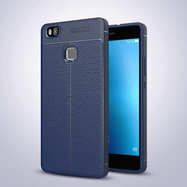 Litchi Soft Back Cover für Huawei P9 Lite - Blau